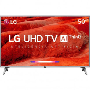 "TV LED LG UHD 4K 50"" SMART THINQ AI 50UM7510 PRATA"