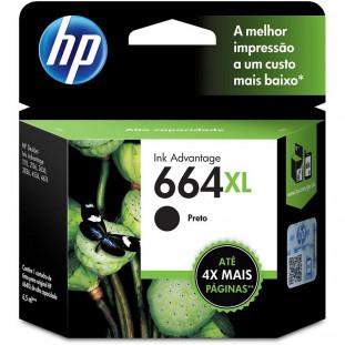 CARTUCHO HP 664XL - PRETO F6V31AB - 8,5ML