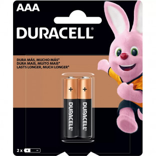 PILHA DURACELL AAA ALCALINAS MN2400 C/2 UNID.