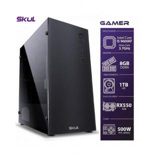 CPU GAMER SKUL I5 9600KF  8GB/HD1TB/RX550 4GB