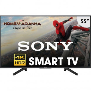 "TV LED SONY UHD 4K HDR 55"" SMART KD-55X705F PRETO"