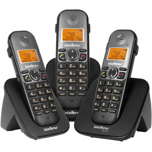 TELEFONE S/FIO DIGITAL INLTEBRAS C/2 RAMAIS TS5123 PT