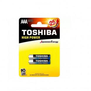 PILHA TOSHIBA AAA  ALCALINA C/2 LR03GCP