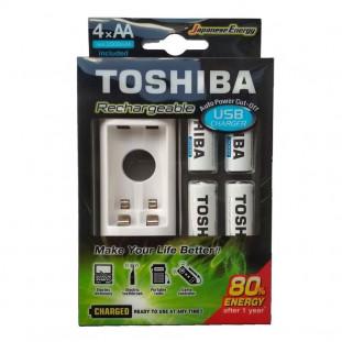 CARREG.TOSHIBA USB AA/AAA +C/4PILHAS TNHC-6GME4 CB